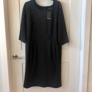 Eloquii Black Embellished Dress